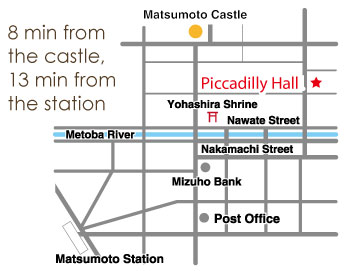 Map of Piccadilly Hall